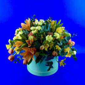 """Коробка цветов """"Апельсиновый сад"""""""