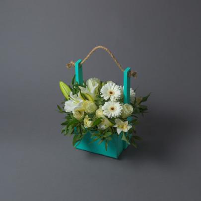 """Ящик с цветами """"Для Учителя"""" фото"""