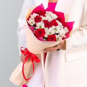 """Букет """"Хризантемы и Розы"""" фото"""
