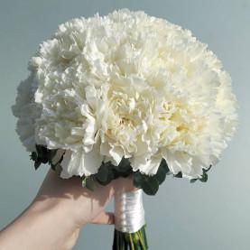 Букет Невесты Из Белых Гвоздик фото