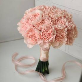 Букет Невесты Из Розовых Гвоздик фото