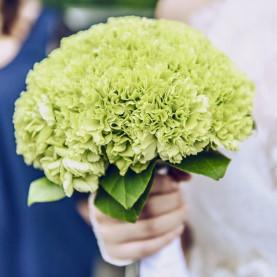 Букет Невесты Из Зеленой Гвоздики фото