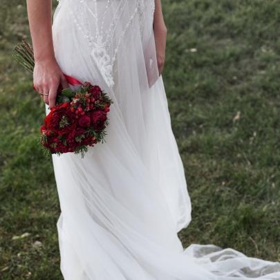 """Букет невесты """"Красный"""" фото"""