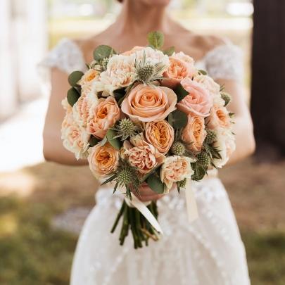 """Букет невесты """"Персиковый"""" фото"""
