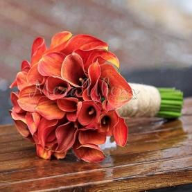 """Букет невесты """"Оранжевый"""" фото"""