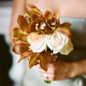 """Букет Невесты """"Шоколадная Орхидея"""" фото"""