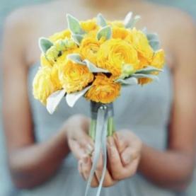 """Букет Невесты """"Желтый Ранункулюс"""" фото"""