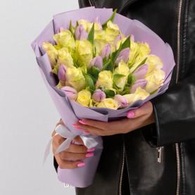 "Букет ""Роза и Тюльпан"" фото"