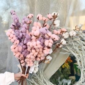 """Букет """"Розово-Фиолетовый Хлопок Миди"""" фото"""