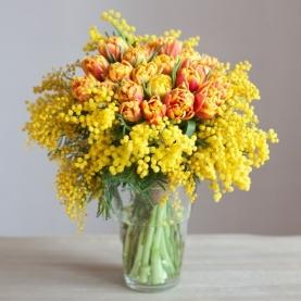 """Букет """"Тюльпаны и Мимоза"""" фото"""
