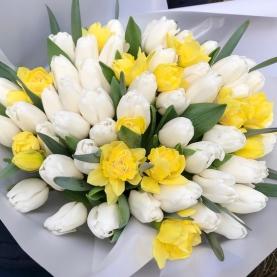 """Букет """"Тюльпаны и Нарциссы"""" фото"""