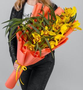 """Букет """"Ветка Желтой Орхидеи"""" фото"""