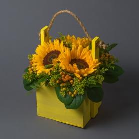 """Ящик с цветами """"Желтый"""" фото"""