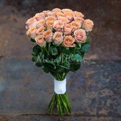 25 Кофейных Роз (50/60 см.) фото