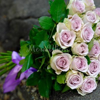 25 Фиолетовых Роз (50/60 см.) фото