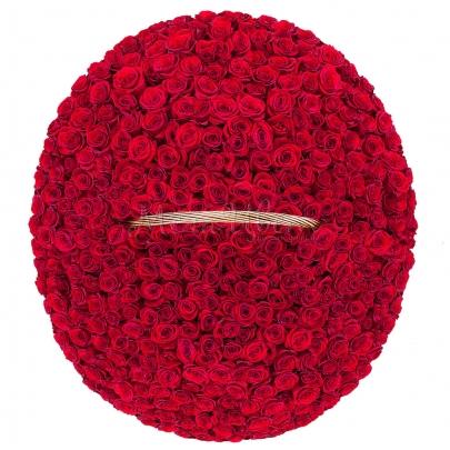 501 Красная Роза в корзине фото