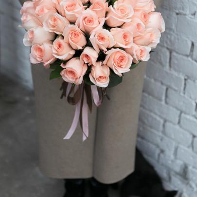 45 Светло-Розовых Роз (50 см.) фото