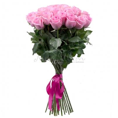 25 Ярко-Розовых Роз (60 см.) фото