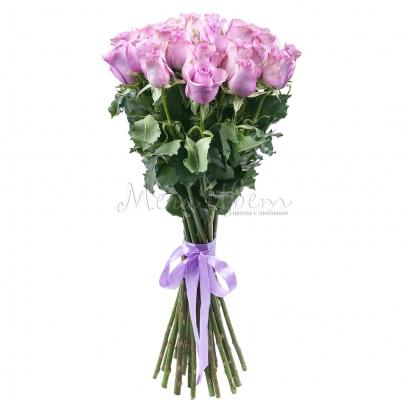 25 Сиреневых Роз (70 см.) фото