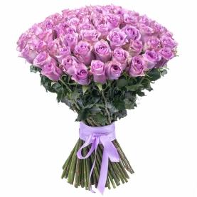 101 Сиреневая Роза Эквадор (50/60 см.) фото