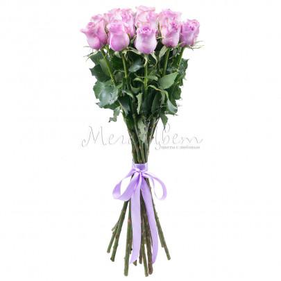 15 Сиреневых Роз (70 см.) фото