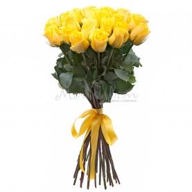 25 Желтых Роз Эквадор (50/60 см.) фото