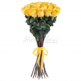 25 Желтых Роз Эквадор (70/80 см.) фото