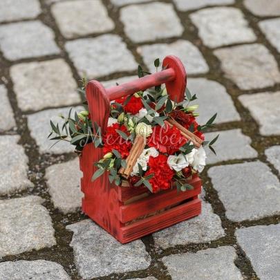 Корзина цветов Кориандр фото