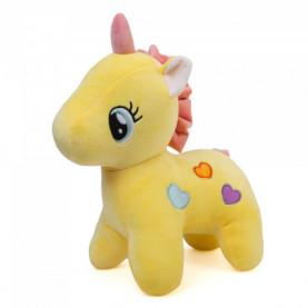 Мягкая игрушка Единорог желтый (30 см.) фото