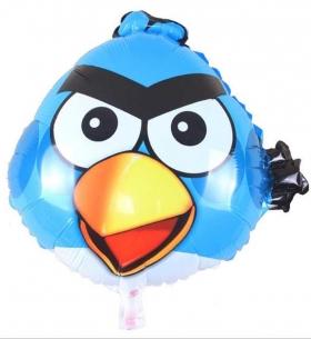 "Воздушный Шар ""Фигура"", Angry Birds (Голубой)"