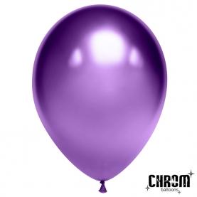 """Воздушный Шар """"Фиолетовый"""", Хром фото"""