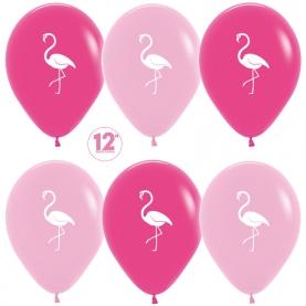 "Воздушный Шар ""Фламинго"", Фуше Розовый фото"