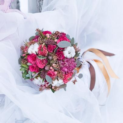 """Букет невесты """"Хлопок"""" фото"""