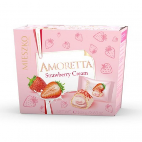 """Конфеты """"Mieszko Amoretta Strawberry"""" C Вафельной Начинкой 103 гр. фото"""