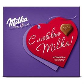 """Конфеты """"Milka"""" Ореховая начинка 100 гр. фото"""
