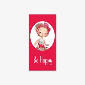 """Конверт для денег """"Be happy"""" чаепитие ежик фото"""