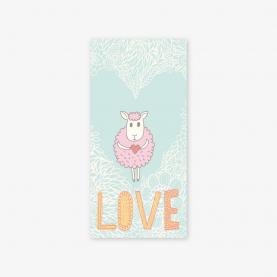 "Конверт для денег ""Love"" овечка фото"