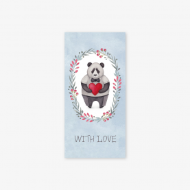 "Конверт для денег ""With love"" панда фото"