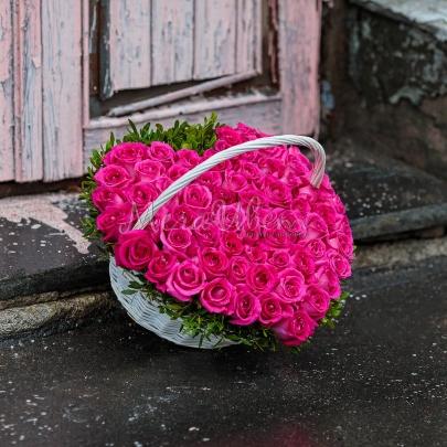 51 Малиновая Роза сердце фото