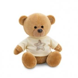 Мягкая игрушка Медведь Топтыжкин коричневый: Звезда (17 см.) фото