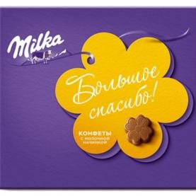 "Конфеты ""Milka"" Молочная начинка 100 гр. фото"