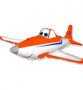 """Воздушный Шар """"Гоночный самолет, Оранжевый"""" (102 см.)"""