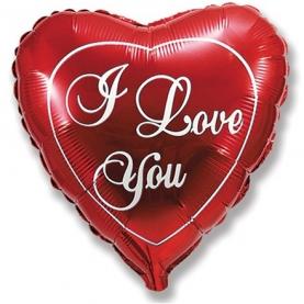 """Воздушный Шар """"Мини-Сердце"""", Я Люблю Тебя (Красный) фото"""