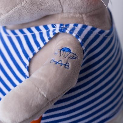 Мягкая игрушка Бегемот Десантник фото