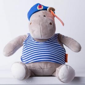Мягкая игрушка Бегемот Десантник (15 см.) фото