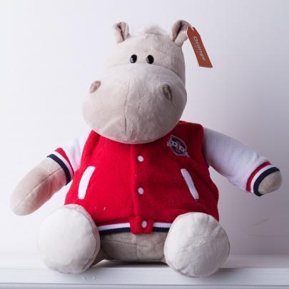 Мягкая игрушка Бегемот в клубной куртке фото