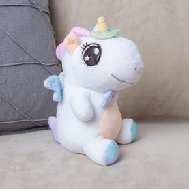 Мягкая игрушка Единорог (25см) белый фото
