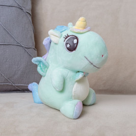 Мягкая игрушка Единорог (25см) мятный фото