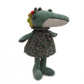 """Мягкая игрушка Крокодилиха Лара """"Зеленый"""" (45 см.) фото"""