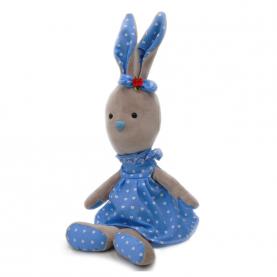 """Мягкая игрушка Кролик Клавдия """"Серый"""" (40 см.) фото"""